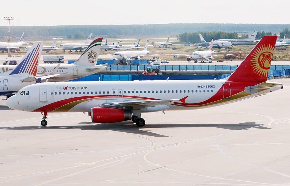 Самолет авиакомпании Air Bishkek