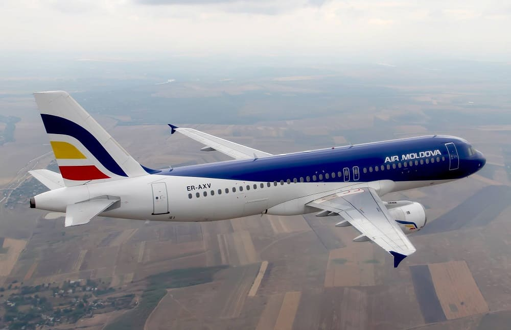 Самолет авиакомпании Air Moldova