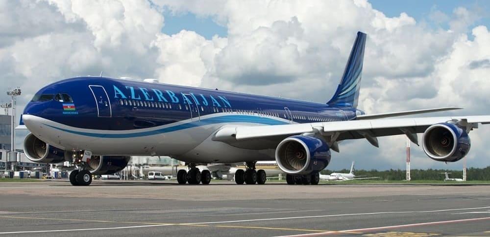 Самолет авиакомпании Азербайджанские авиалинии (Azal)
