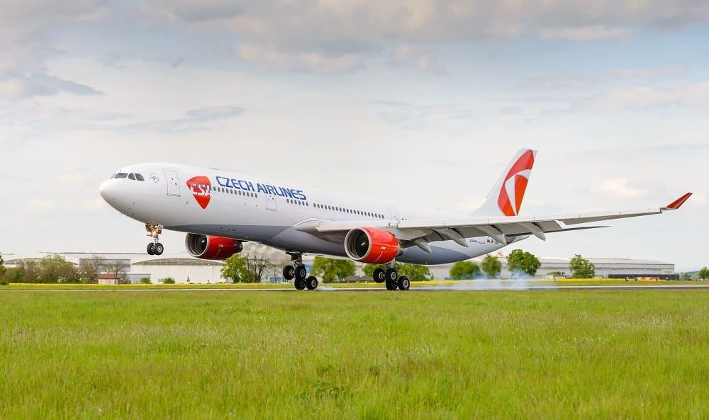 Самолет авиакомпании Czech Airlines