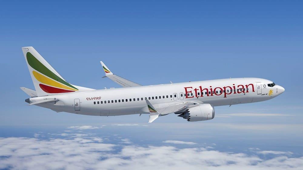 Самолет авиакомпании Ethiopian Airlines