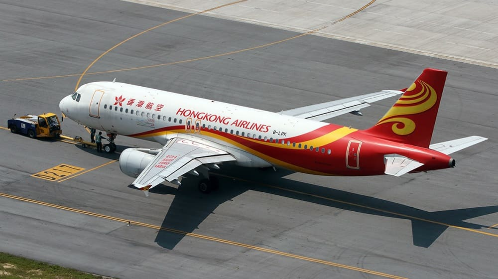 Самолет авиакомпании Hong Kong Airlines