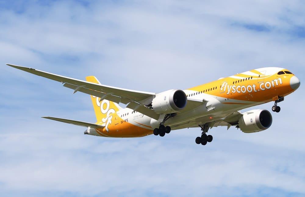 Самолет авиакомпании Scoot