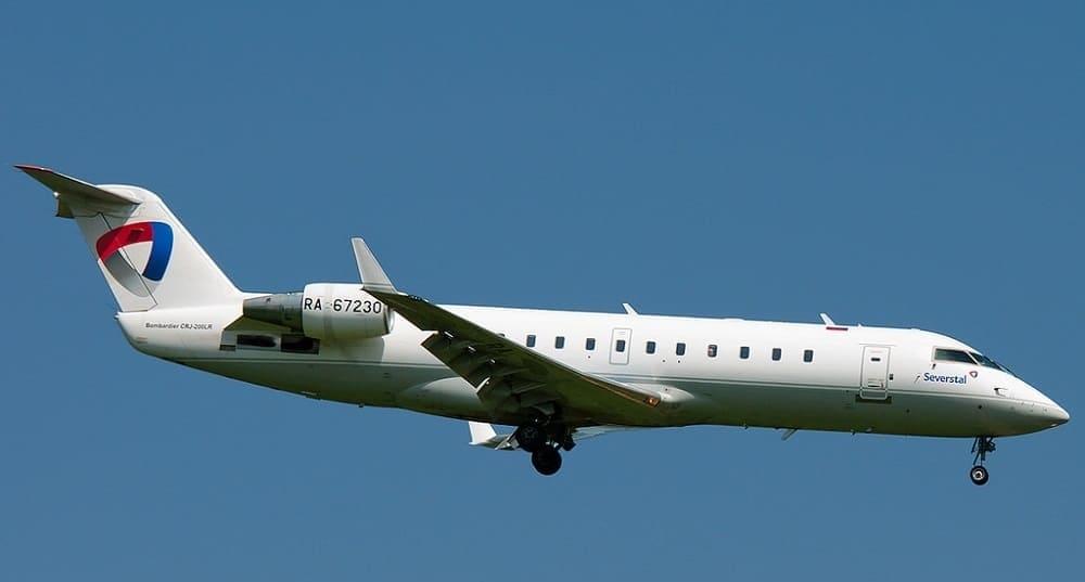 Самолет авиакомпании Северсталь