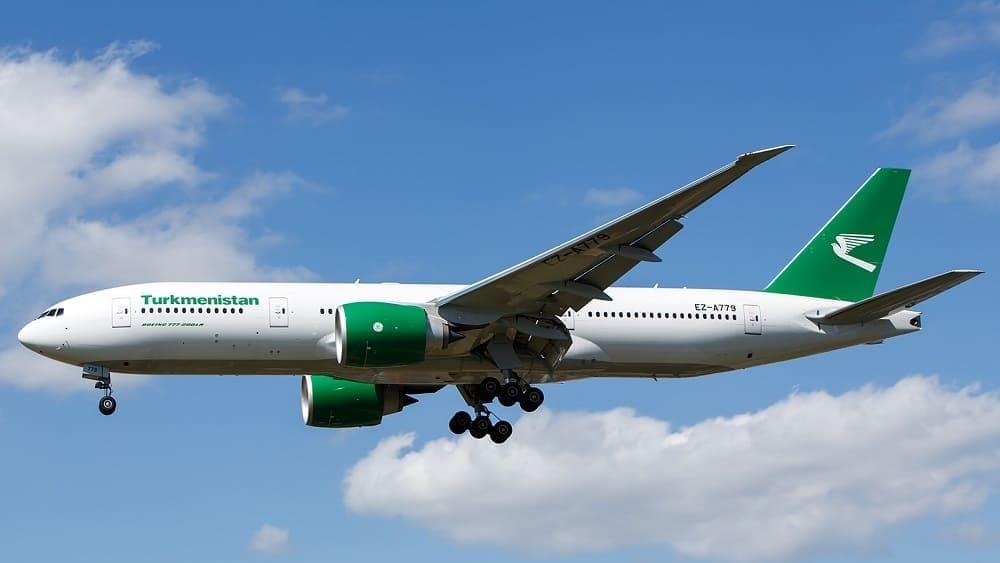 Самолет авиакомпании Туркменские авиалинии