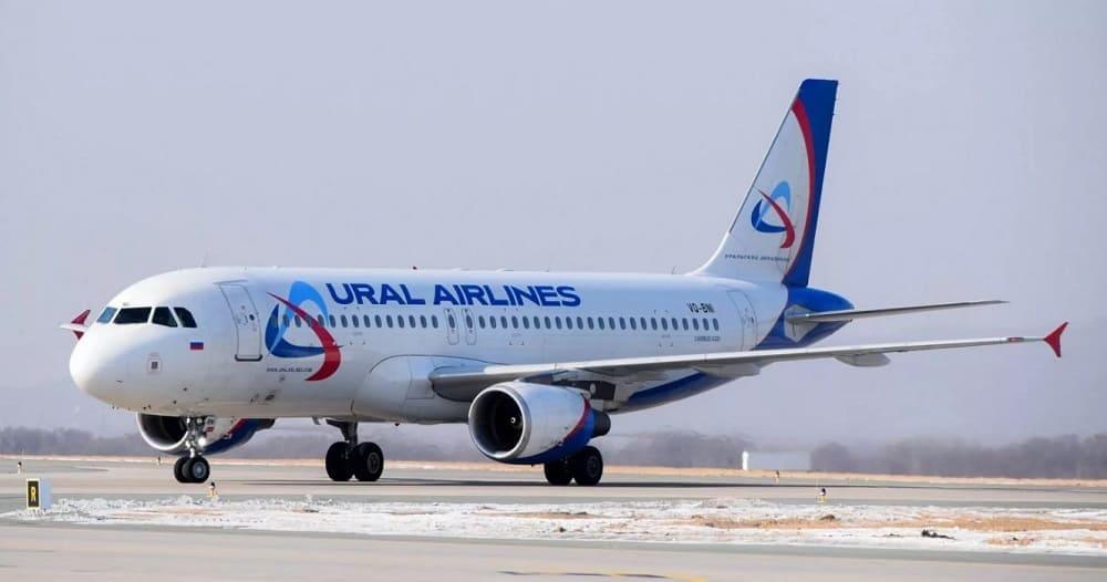 Самолет авиакомпании Уральские авиалинии