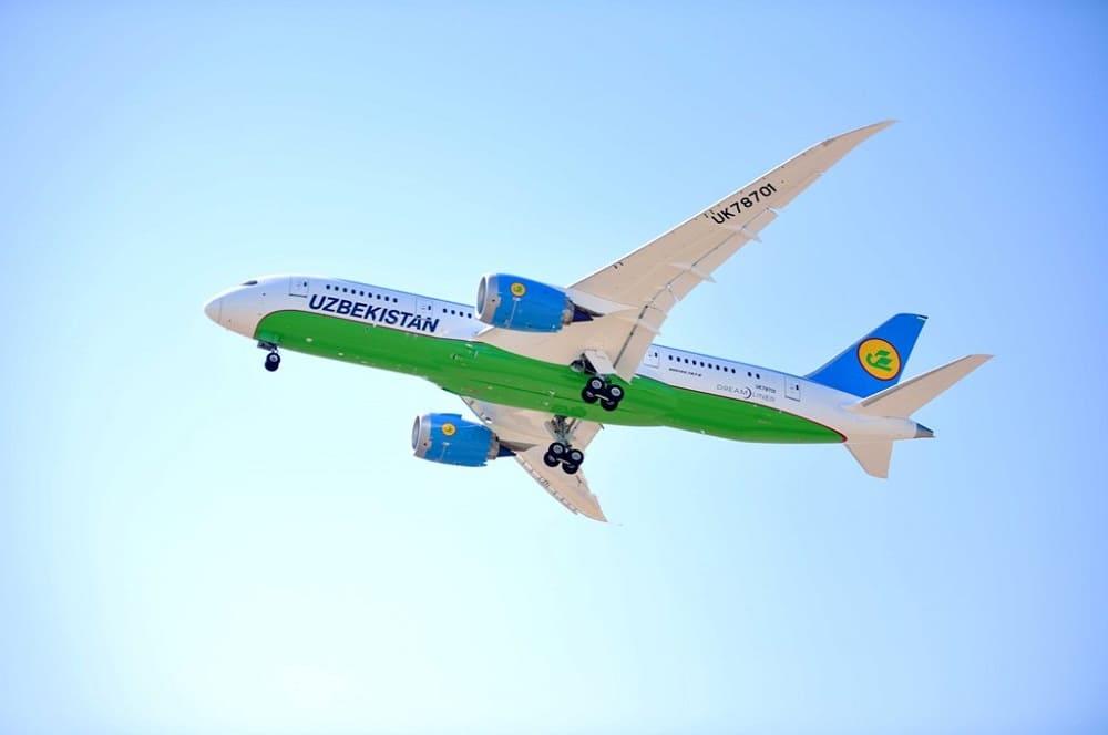 Самолет авиакомпании Узбекские авиалинии