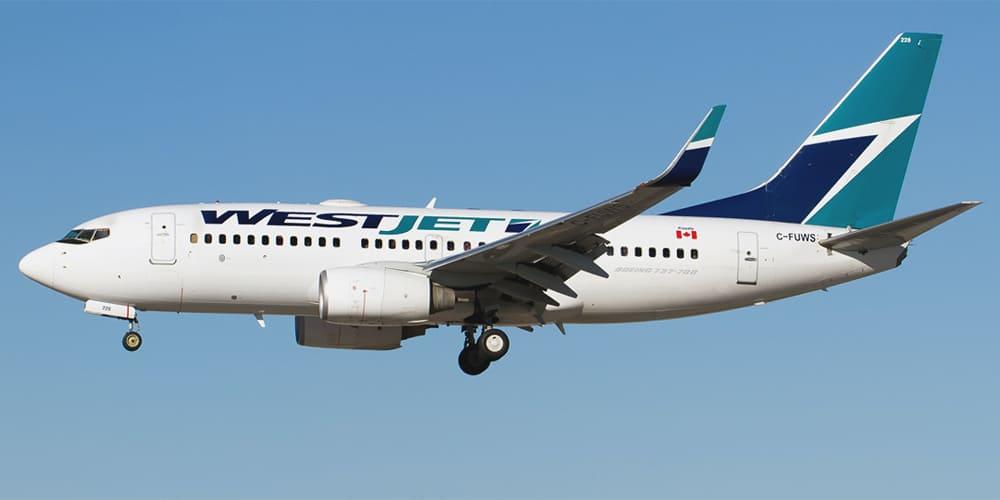 Самолет авиакомпании Westjet